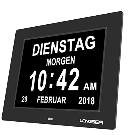 Longsea Reloj Calendario Digital 8