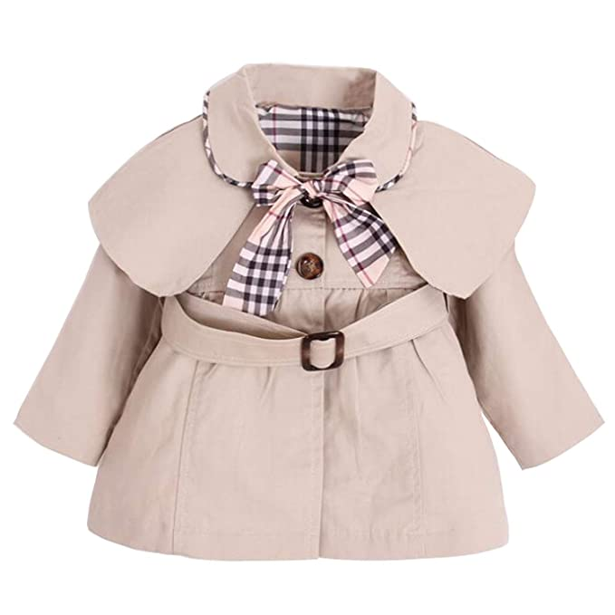 5bbba6ef45b1 Amazon.com  FIZUOXVE Baby Girls Autumn Winter Long Sleeve Casual ...
