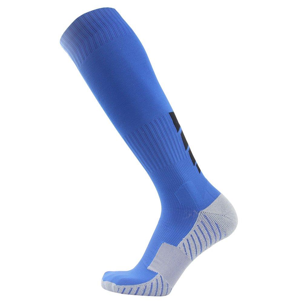 サッカーソックス、3streetユニセックスアスレチック圧縮ソックス1 / 2 / 3 / 4 / 6 / 10ペア B016B9NEOW M(Fit For US 8-12)|1-Pair blue 1-Pair blue M(Fit For US 8-12)
