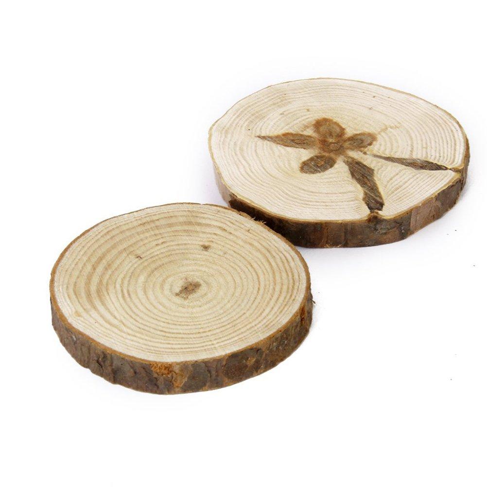 Amazon.com: Tinksky Wood Slices Discs for DIY Crafts Wedding ...