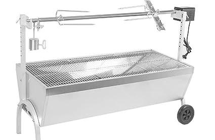 Parrilla, barbacoa portable portable giratoria del carbón de leña del acero inoxidable que activa el