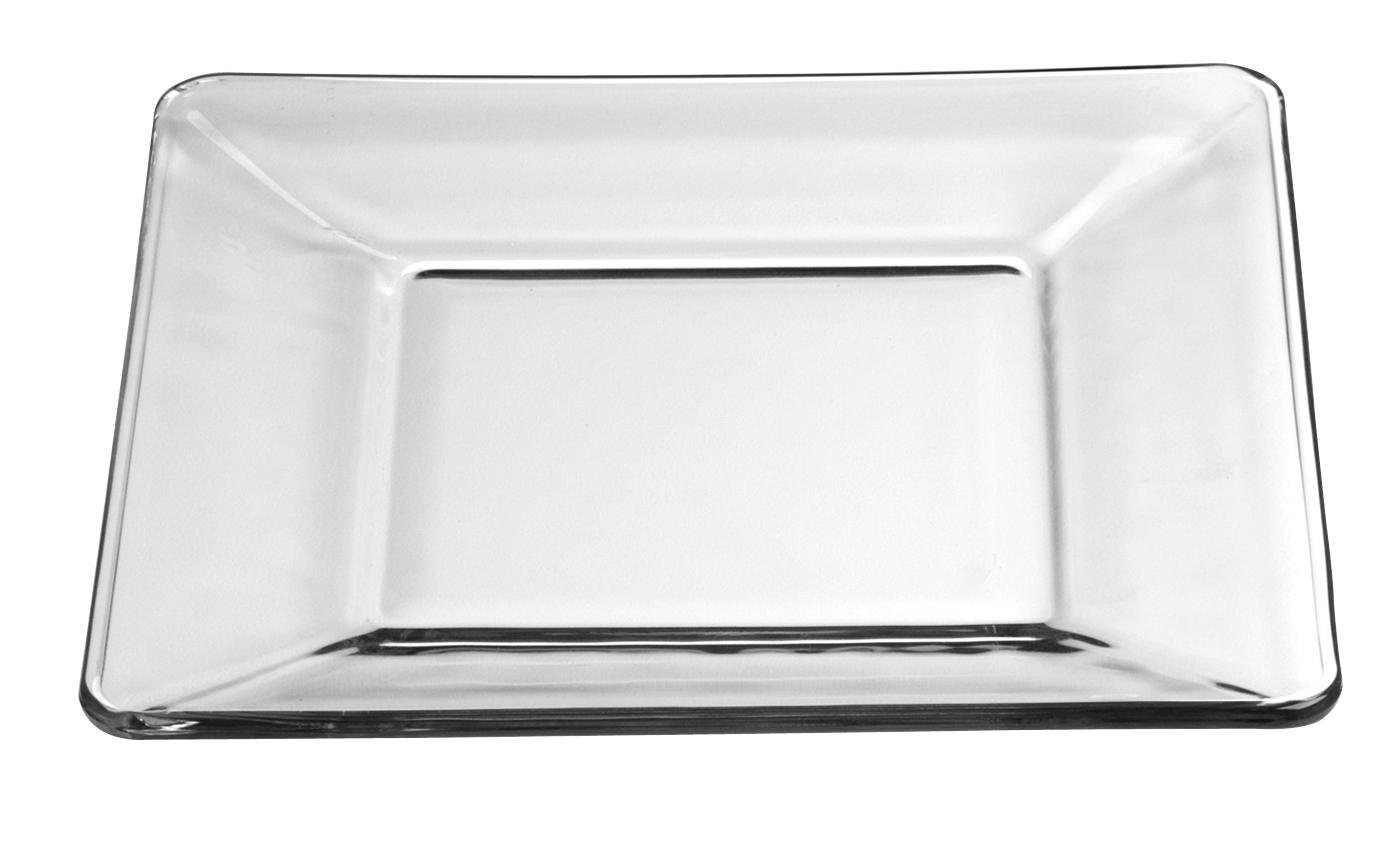 Libbey Crisa Tempo Square Salad/Dessert Plate, 8-Inch , Box of 12, Clear 1794709 204