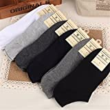 Smartchef 5 Pairs New Men Casual Sports Socks Crew Ankle Low Cut Cotton Socks 9-12