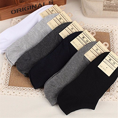 Smartchef 5 Pairs New Men Casual Sports Socks Crew Ankle Low Cut Cotton Socks 9-12 (Badass Characters)