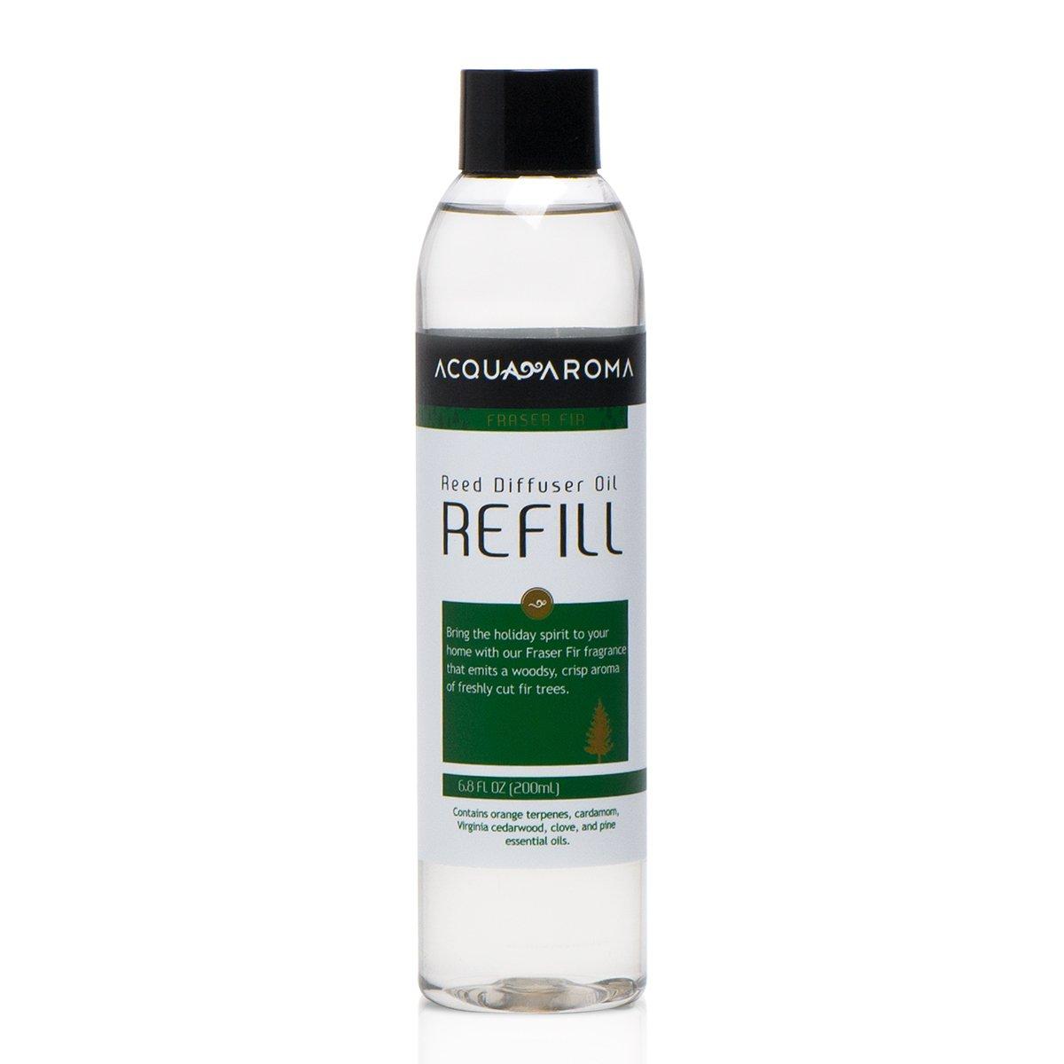 Acqua Aroma Fraser Fir Reed Diffuser Oil Refill 6.8 FL OZ (200ml) Contain essential oils. Frasier Fir Christmas Scent