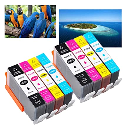Ouguan® Compatible para HP 364 XL Cartuchos de impresora para HP ...