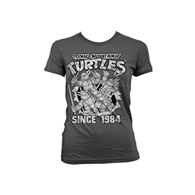 05afd7fa Officially Licensed Merchandise TMNT - Distressed Since 1984 Girly Tee:  Amazon.co.uk: Clothing