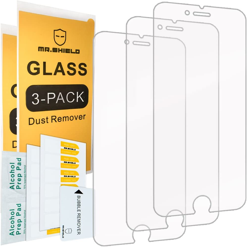 [3-PACK]- Mr.Shield For iPhone 6 Plus/iPhone 6S Plus [Tempered Glass] Screen Protector [Japan Glass With 9H Hardness] with Lifetime Replacement