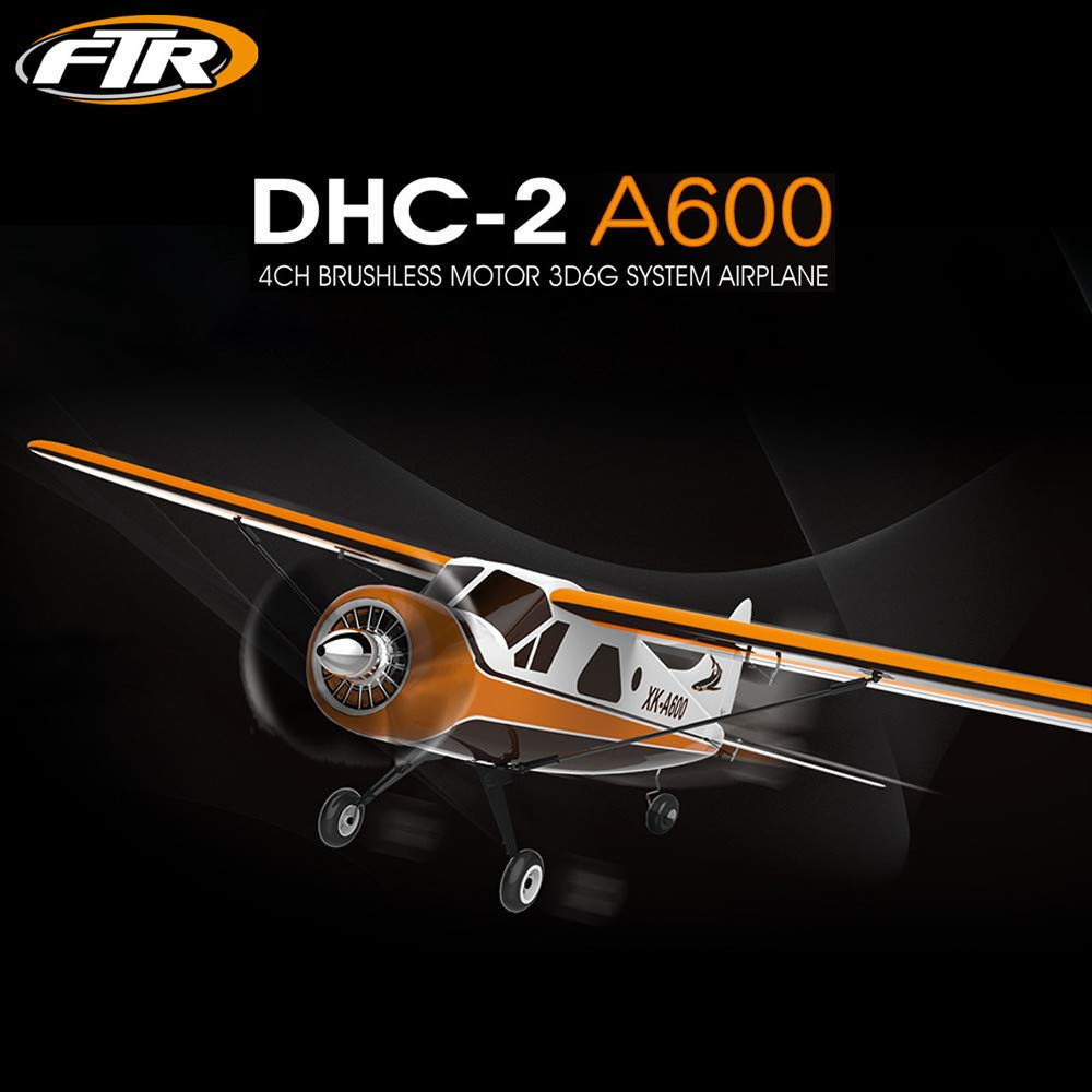 WLTOYS XK DHC-2 A600 2.4GHZ 4CH Brushless Motor RC Airplane 6 Axis Glider,Starwak Remote Control Aeroplane with 3D 6G Mode Can Be Converted Easily Compatible with FUTABA S-FHSS,Easy Use for Beginners by Starwak