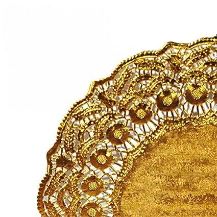 14 x 30 x 30 cm Garcia de Pou Round Doilies White Paper