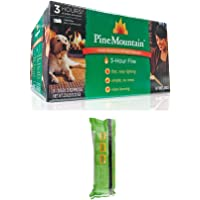 Pine Mountain 6-Pack, 3-Hour Firelogs, Easy Lighting - 1 Boxes with 1 2-Hour Fire Log