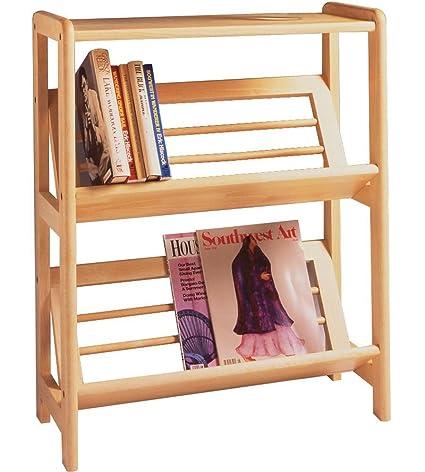 Basics 30quot H Tilted Shelf Two Tier Bookshelf MNP 82430