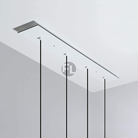 Lámpara de techo rectangular con 4 agujeros (90 x 12 x 0,3 ...