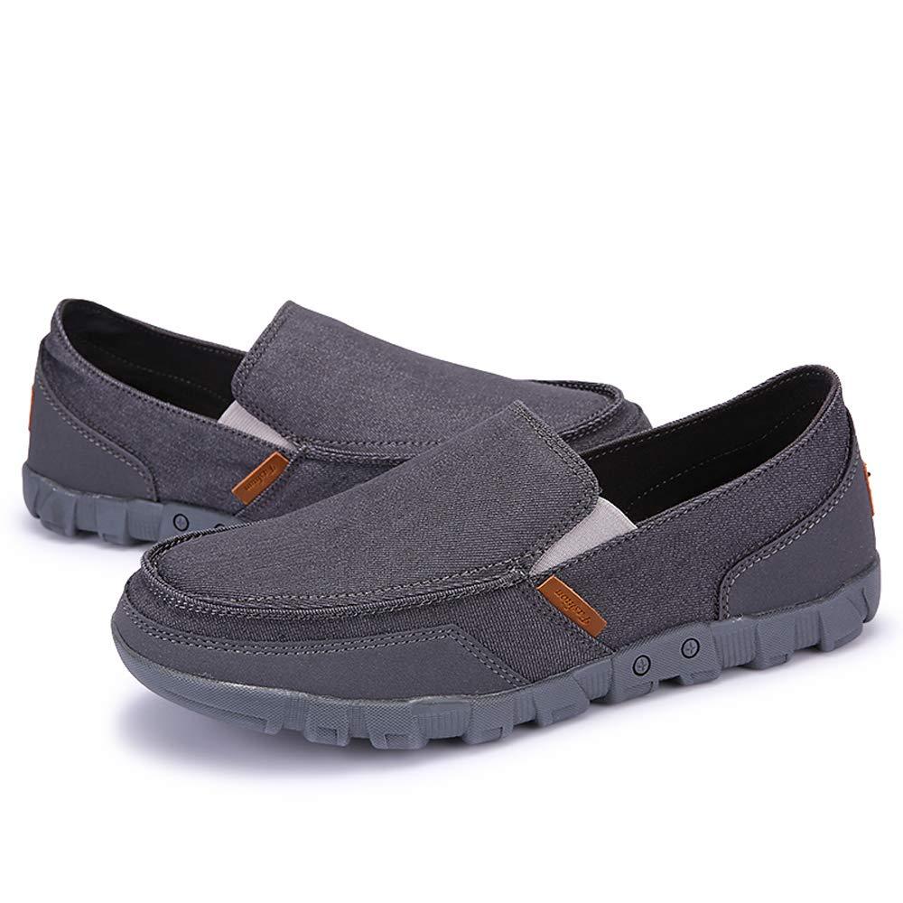 LANSEYAOJI Mocasines Hombre Zapatos de Lona Clásico Zapatos de Barco Retro Moda Zapatos Planos Casual Zapatos de Negocios Zapatos para Caminar Slip on ...
