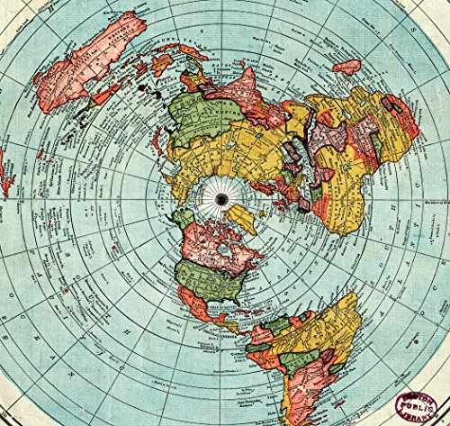 New Flat Earth Map.Amazon Com Flat Earth Map Gleason S New Standard Map Of The World