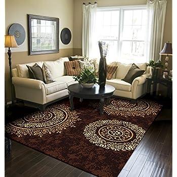 Amazon Com Modern Burgundy Rugs Living Dining Room Red
