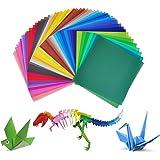 Carta per origami, Jingxu 50colori 200fogli di carta lato singolo Crafts 15,2x 15,2cm per progetti artistici e creativi + 100pcs occhi in movimento
