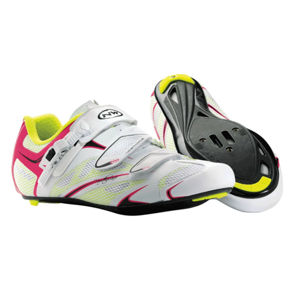 Amazon.com: Northwave Womens Starlight SRS Road Shoes - WHITE/FUCHSIA, 39: Health & Personal Care