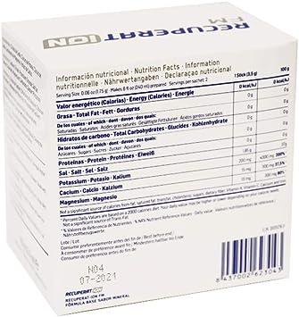 Recuperation FM Fórmula Base | Bebida hipotónica con sales minerales científicamente formulada | 20 sobres: Amazon.es: Salud y cuidado personal