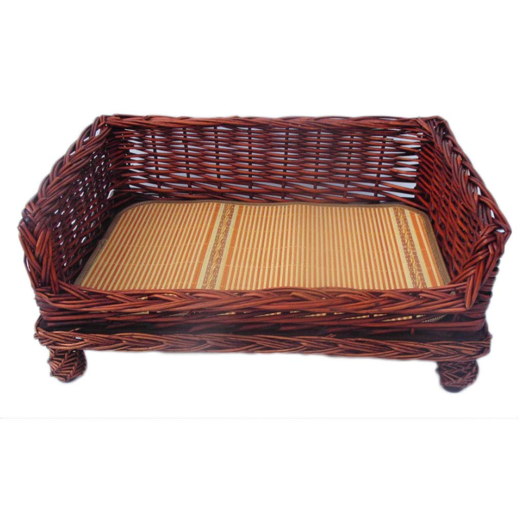 B 4 B 4 Kennel Rattan Four Seasons Universal Large And Medium-sized Dog Teddy Bear golden Hair Waiting For The Pet Pet Winter Dog Bed Cat Nest (color   B, Size   4)
