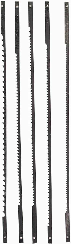 Einhell Dekupiersägeblattset 127 mm, 5 tlg Blister 5 Hojas Sierra MARQUETERIA, 127mm, Set de 5 Piezas