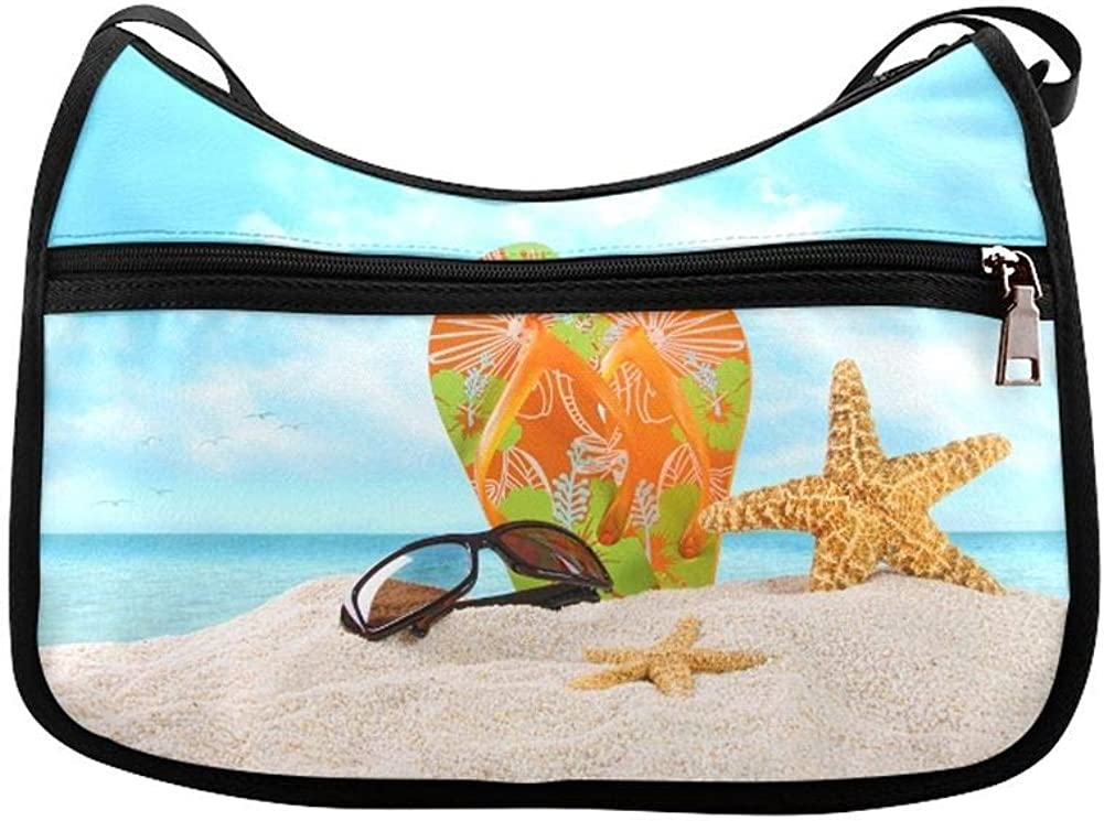 Paper Style Messenger Bag Crossbody Bag Large Durable Shoulder School Or Business Bag Oxford Fabric For Mens Womens Summer Beach Birds-eye View