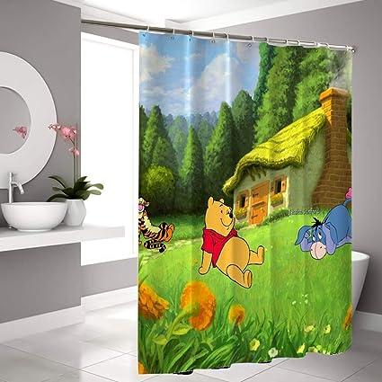 Amazon Com Disney Collection Shower Curtain Eeyore Grass