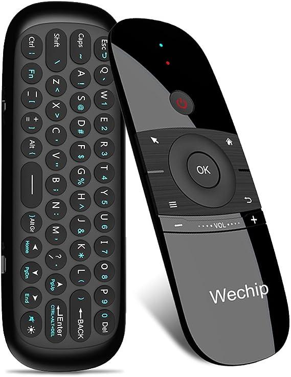 Docooler wechip W1 ratón Aire 2.4 g inalámbrico Teclado Mando a Distancia por Infrarrojos Sentido del Movimiento de 6 Ejes con Receptor USB para Smart ...