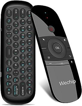 Docooler wechip W1 ratón Aire 2.4 g inalámbrico Teclado Mando a Distancia por Infrarrojos Sentido del Movimiento de 6 Ejes con Receptor USB para Smart TV Android TV Box PC portátil: Amazon.es: