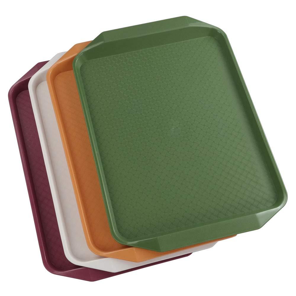 4 Pack Service Plastique Plateaux Joycky Plateaux Rectangulaire