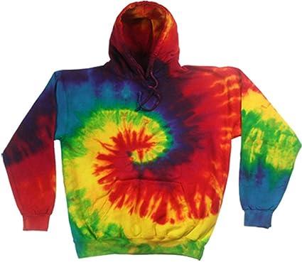 246b77148b7 Buy Cool Shirts Kids Tie Dye Pullover Multi Reactive Rainbow Swirl Hoodie 2- 4
