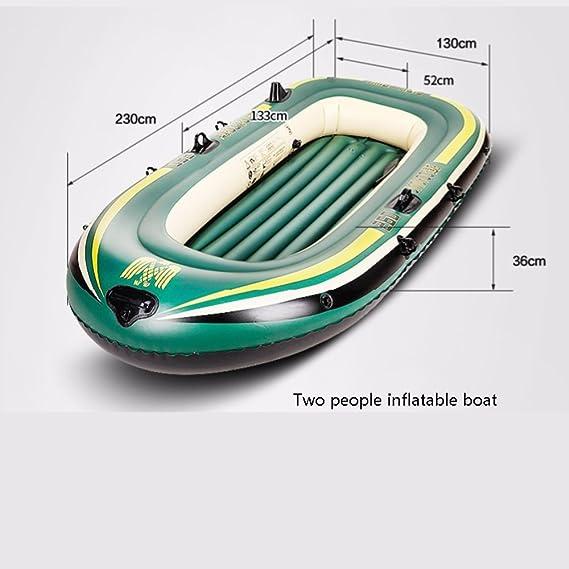 Inflatable kayak Kayak Hinchable ZDDAB Resistente al Desgaste, Barco de Goma Gruesa, Barco de Pesca, Asalto 2/3/4 Personas, Hovercraft: Amazon.es: Hogar