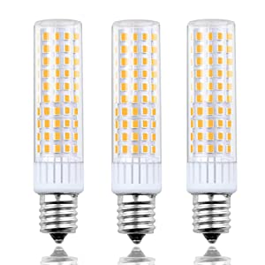 8.5 Watts Dimmable E17 LED Appliance Bulbs Lustaled 120V E17 Intermediate Base LED Ceiling Fan Bulbs 100W Halogen Replacement Daylight 6000K for Refrigerator Microwave Ovens Reading Lamps (3-Pack)