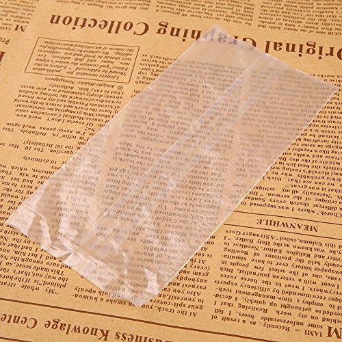 Forfar 50Pcs Außen PVA Fishing Bag Angeln PVA Taschen Fisch Karpfen Tackles Bait 7 × 14 cm Wasser Schnell schnell auflös