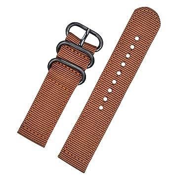 bf7112ab1c5b 22mm ceinture montre marron bracelet de bracelet en nylon exquise classique  pour les hommes avec boucle