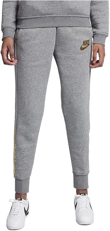 Nike Rally Sportswear - Pantalones de chándal para Mujer, Color Gris y Dorado metálico - Gris - Small: Amazon.es: Ropa y accesorios