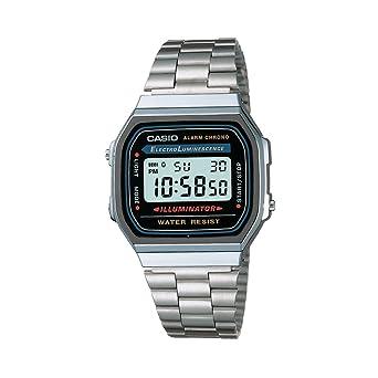 4d1b466b3f22 Relógio Unissex Digital Casio Vintage A168WA-1WDF - Prata  Amazon ...