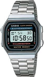 Casio Vintage A168WA-1WDF - Unisex Watch silver