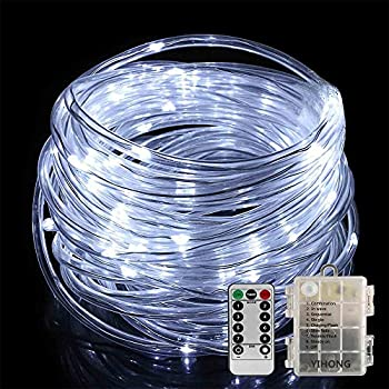 Amazon hahome battery operated 50 led rope tube light 164 led rope lights yihong battery operated string lights 33ft 8 mode fairy lights waterproof firefly lights aloadofball Gallery