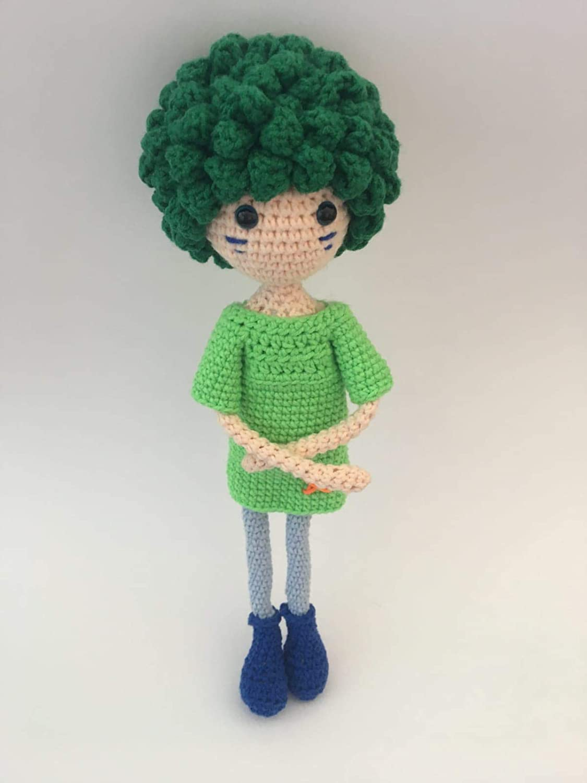 Amazon.com: Organic Amigurumi Doll with movable joints, organic ... | 1500x1125