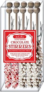 product image for Melville Candy Hot Chocolate Stirrers (Peppermint 5, Marshmallow 5)