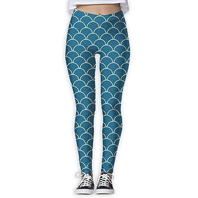 TRdY PAGE Mermaid Scales Yoga Leggings,yoga Pants,yoga Trousers Digital Printed Womenâ€s Full-Length Yoga Workout Leggings