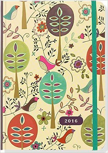 by peter pauper press 2015 folk art birds weekly planner 16 month engagement calendar diary 16m egmt