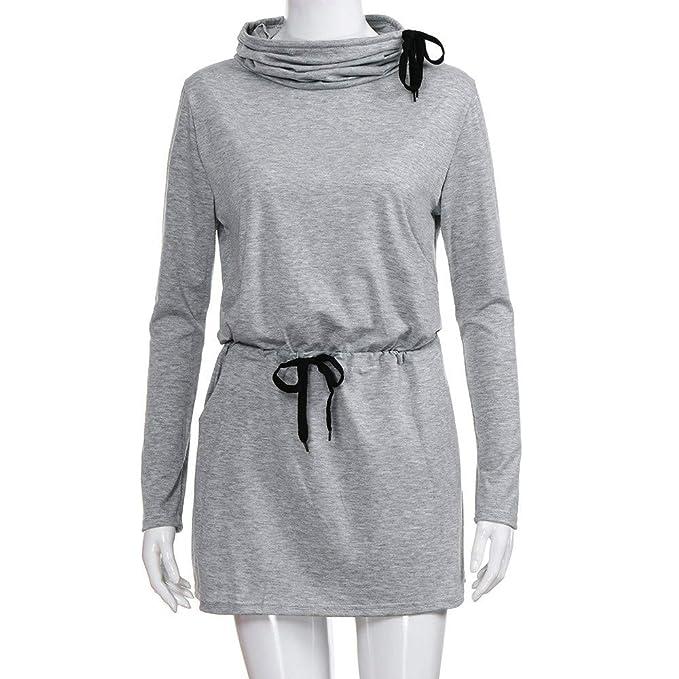 YOYOGO ❀Halloween Vestidos Largos para Boda De Noche,Vestido De Encaje con Cordones De