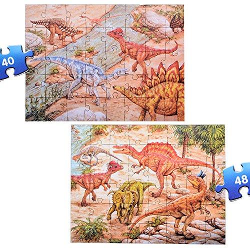 Prehistoric Dinosaurs Floor Puzzles Super Puzzle Set (Set of 2 Puzzles)