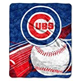 "MLB Chicago Cubs Big Stick Sherpa on Sherpa Throw, 50"" x 60"""
