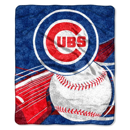 MLB Chicago Cubs 50-Inch-by-60-Inch Sherpa on Sherpa Throw Blanket