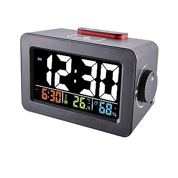 HJL LED Reloj Despertador Inteligente Estación de Noche ...