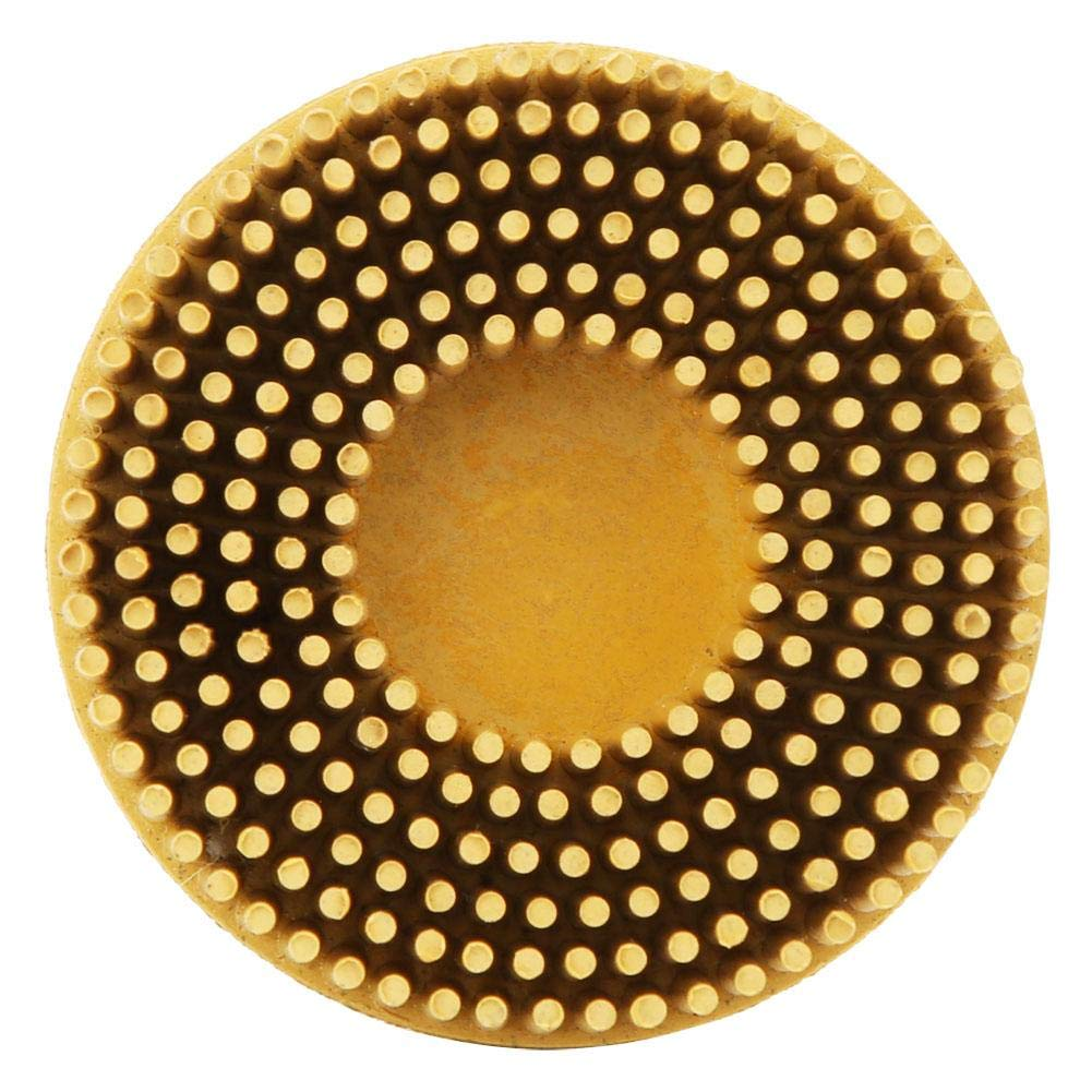 Yellow Bristle Brush Disc 2 Inch Rubber Abrasive Brush Polishing Grinding Wheel for Burr Rust Removal
