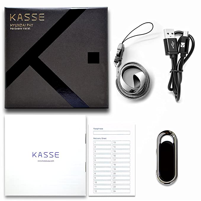 Kasse Hardware Wallet HK-1000 for Cryptocurrency High Security Virtual Currency Crypto Vault - Full ERC20 Support - Bitcoin Ethereum Ripple Litecoin ...